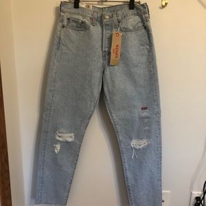 Levi's 501 Distressed Wedgie Fit Jeans